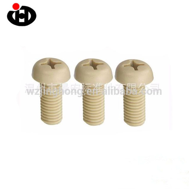 High Quality Plastic White Plain Black Clear Color Philips Pan Head Nylon Machine Screw