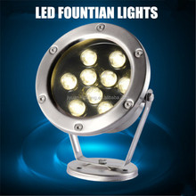 316Stainless Steel Round Embedded RGB Dmx led pool light for underwater ,fountain and siwmming pool