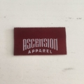 High quality custom clothing woven label for garment cap hat jeans