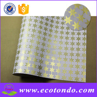 platinum paper,newest star design flower gift wrapping paper wholesale