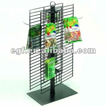 Spinning Counter Top Candy Display Rack with Sign Holder
