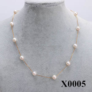 Beautiful Natural Freshwater Design Pearl Necklace 925 Sterling Silver Necklace