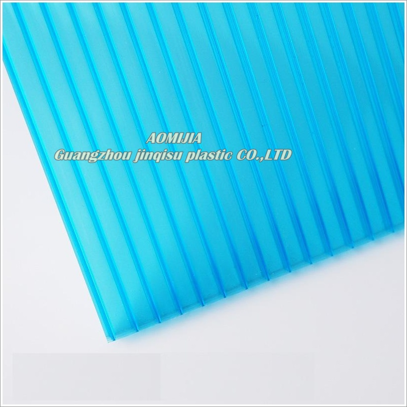 4mm 6mm Polycarbonate Multi Wall Polycarbonate Roofing Hollow Sheet for greenhouse