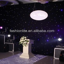 rental led star cloth /led wedding lights/led wall lighting for events
