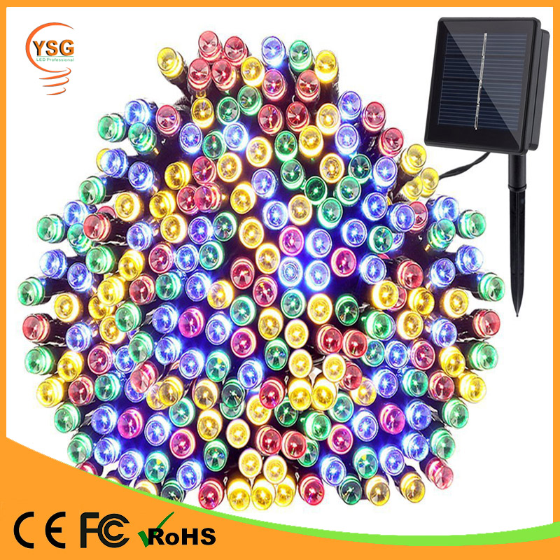 2017 New Solar pwoered LED string christmas decoration light