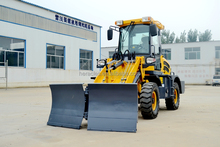 mini wheel loader with hydraulic V snow blade for sale