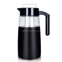 Wholesale glass pitcher iced tea coffee pot with stainless filter cold brew coffee maker