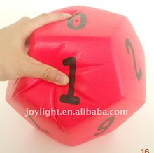 Big foam number dice