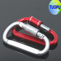 Fashion design aluminum carabiner spring snap hook for wholesale from china factory