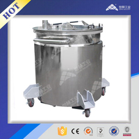 Stainless steel electricity heating movable tank