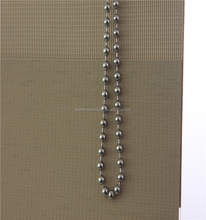 Stainless steel loop chains block out fabric zebra blind sheer shades
