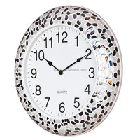 High Quality Modern Design Creative Large Glass Mosaic Wall Clock