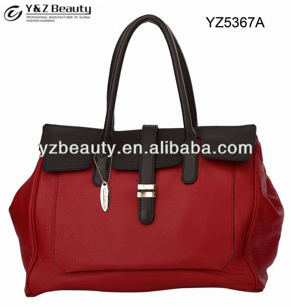100% soft leather patchwork handbags wholesale