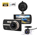 4 Inch Novatek 96655 Super Night Vision Dual Camera Car DVR Full HD 1080P Car Camera E4