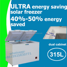 315L dc 12V 24V solar freezer refrigerator dc fridge compressor with 110mm PU insulation