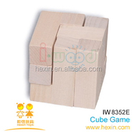 wooden game-IQ Puzzle Cube
