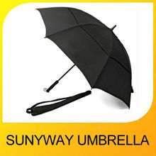 Large Strong Windproof Man Black Golf Umbrella with Bag