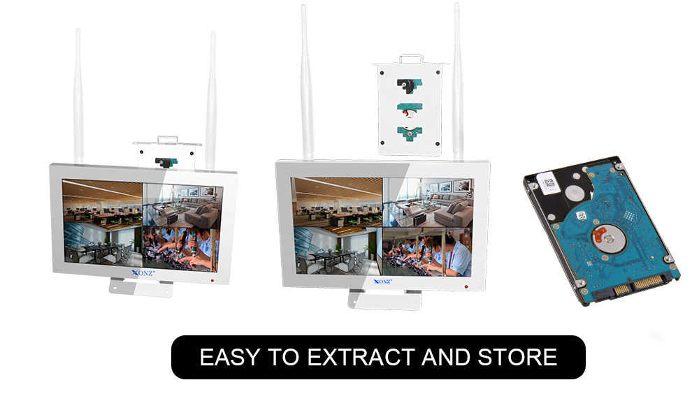 Wholesale  plug and play wireless NVR  kit , 4CH 8CH outdoor indoor P2P CCTV camera kit