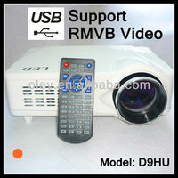 low cost wall & ceiling mount projector 1080p with hdmi and tv tuner, usb/sd support rmvb format video