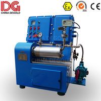 DEGOLD 1.4L ceramic grinding cylinder&disk inverter research pearl Ex proof agitator horizontal bead mill for pigment