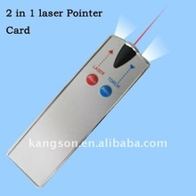 Laser Pointer Card with Led torch