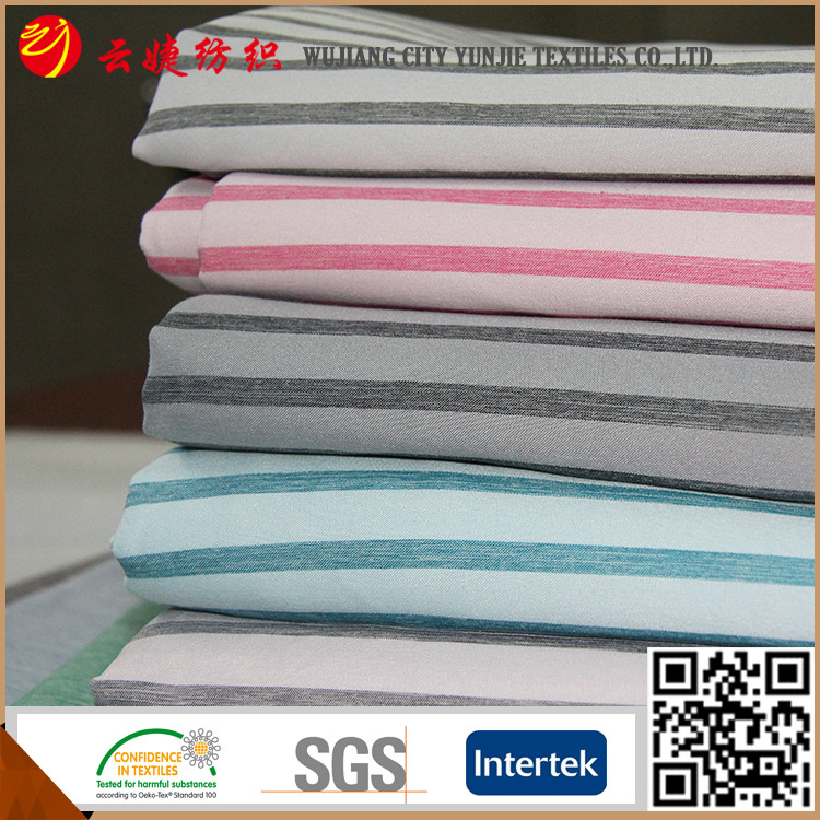 Cationic Dyeing satin stripe fabric