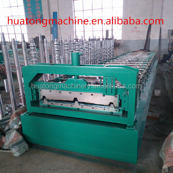 India color steel cement roof tiles making machine .