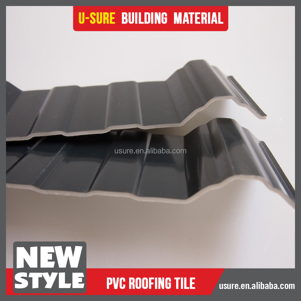 hard plastic roofing sheet / china products roofing sheets prices / modern house red roofing shingles