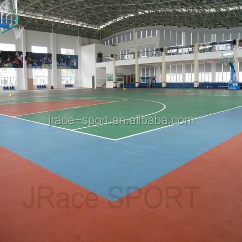 Guangzhou manufacturer of silicone PU flooring for indoor sport rubber flooring