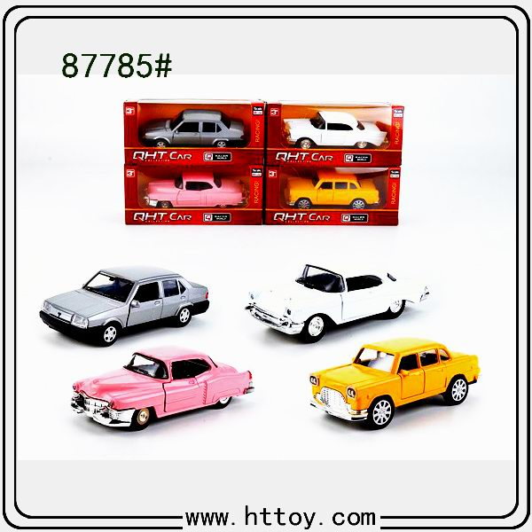 87785#Selling Metal car 1:: 32 LADA Chevrolet Thunderbirds Cadillac Pull back car Door open Boy toys Vehicle Puzzle Plastic