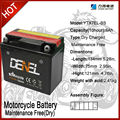 Lead Acid Motorcycle Batteries 12V6ah Batteries,Motorcycle parts,lead acid batteries,motorcycle batteries,Maitenance free