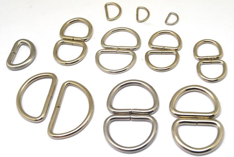 Generic Metal Silvery D Ring Buckle 1 Inside Diameter Loop Ring for Strap Keeper Pack of 15