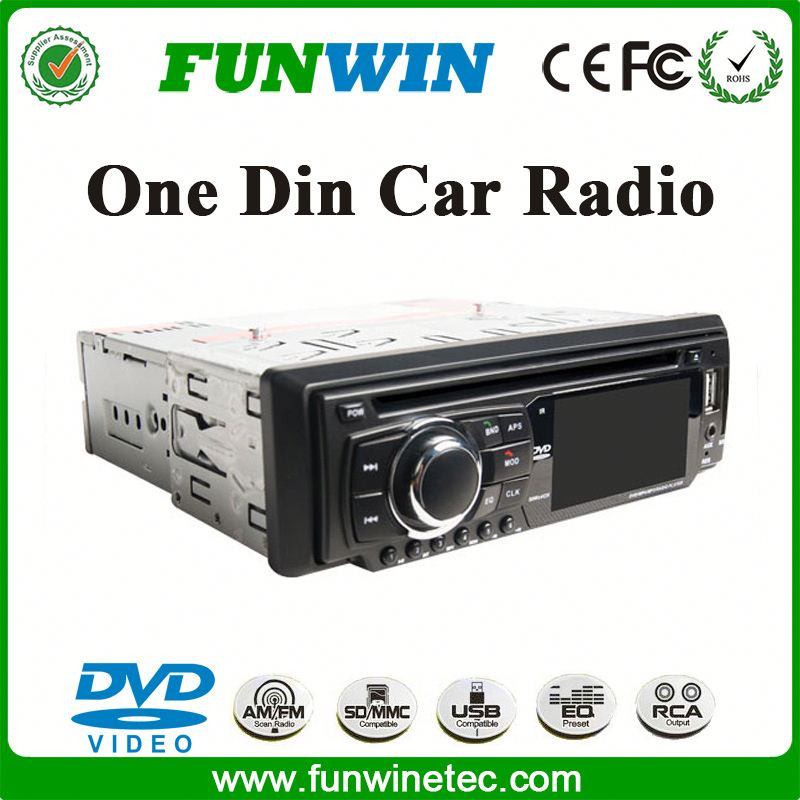 2015 Hot Selling Car DVD VCD CD Mp3 Mp4 Player 1 Din Radio