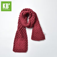 New Fashion Custom Made 100% Acrylic Thick Winter Unisex Adult Men Women Teen Knitted Red Scarf With Pocket