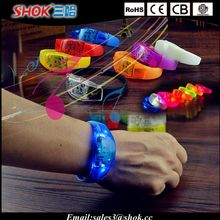 2015 Most popular Sound activated led bracelet glow in the dark led bracelet for party