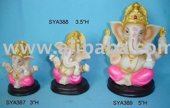 Resin Murtis Hindu God Figurines (Mini Ganesh)