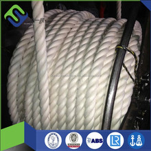 16mm white polyester cotton rope with high strength