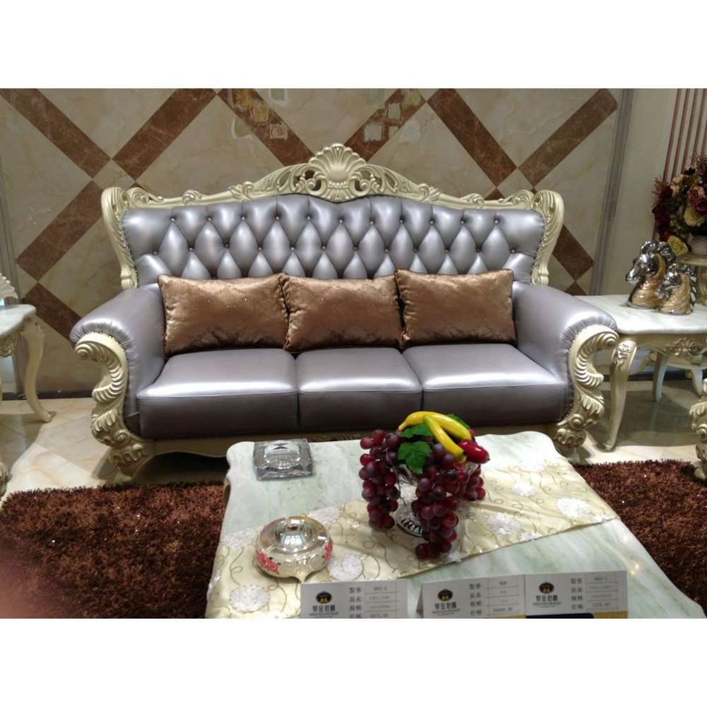 Drawing room new fashion simple wooden royal leather sofa sets prices designs furniture in pakistan
