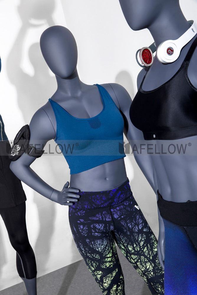 female male sports moving mannequin