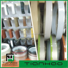 silver +black Bicolor pvc edging edge banding strip for furniture