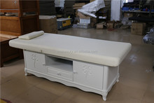 2015 Upmarket beauty spa salon Medical Wooden SPA Chair white massage table bed