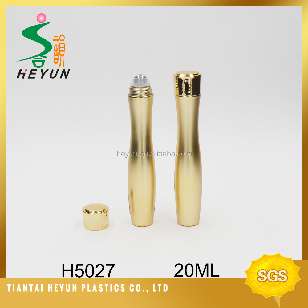 20ml new fancy gold color plastic China supplier eye roll on packaging