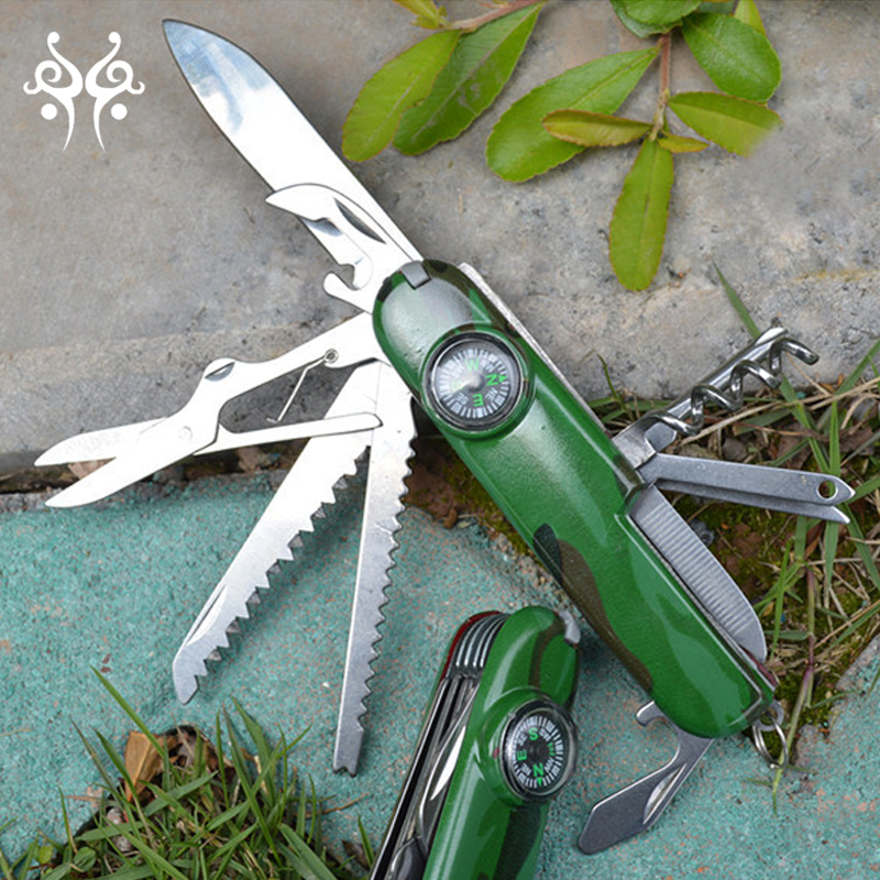 Multi function outdoor use camping knife sharpener pocket knife