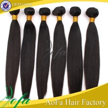 Peruvian Straight double weft unprocessed virgin raw human hair