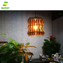 Retro romantic warm yellow color chandelier light led Paper art folding lights outdoor wall lantern