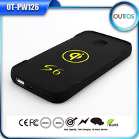 Qi wireless charger 6000mah portable power bank for mobile phone