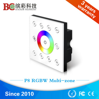 Flexible P8 AC85V 265V multizone rgbw led control touch panel dmx controller