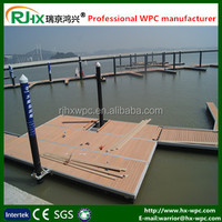 PE coated WPC decking floor for outdoor trestle with waterproof and anti-slip feature