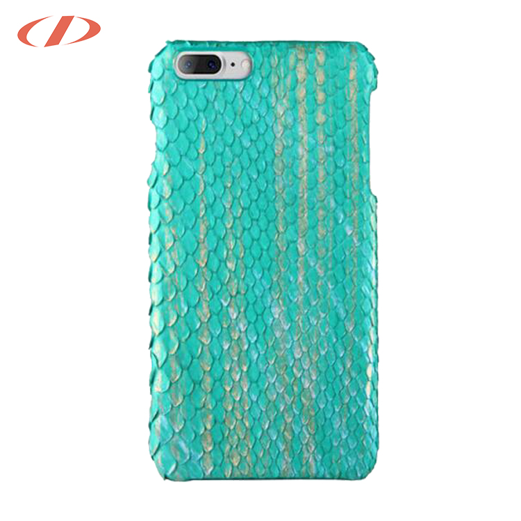 Mobile phone accessories green for iPhone case leather python for iPhone 8 plus python case