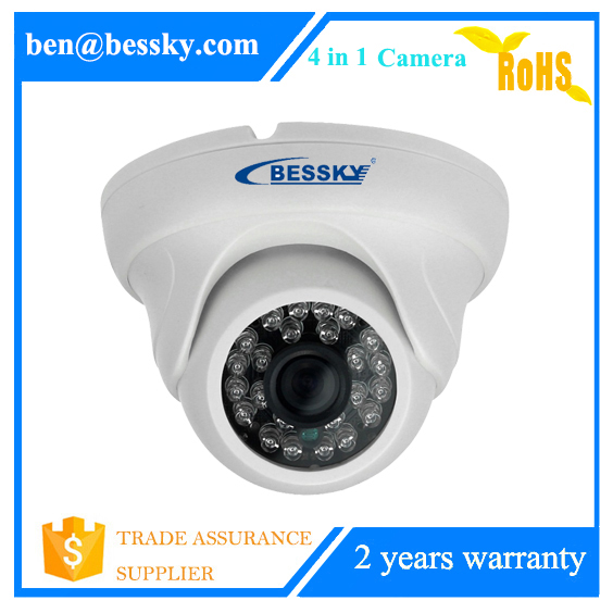 2 megapixel white mini indoor camera 1080p hd tvi camera cvi ahd cctv camera with great night inflared picture